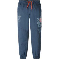 Odzież chłopięca: Spodnie chino z elastycznym paskiem i naszywkami bonprix czarny z nadrukiem
