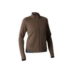 Bluza na zamek Gym & Pilates 900 damska. Brązowe bluzy polarowe marki DOMYOS, xl. W wyprzedaży za 49,99 zł.