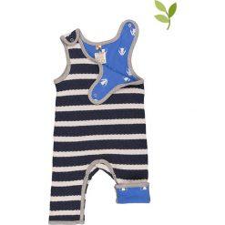 Pajacyki niemowlęce: Dwustronne śpioszki w kolorze niebieskim