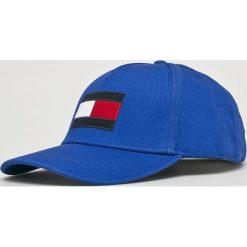 Tommy Hilfiger - Czapka. Niebieskie czapki z daszkiem męskie TOMMY HILFIGER. Za 179,90 zł.