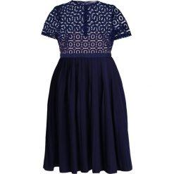 Sukienki hiszpanki: Little Mistress Curvy CROCHET PROM Sukienka koktajlowa navy