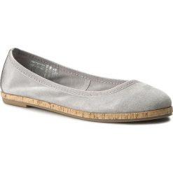 Półbuty TAMARIS - 1-22117-28 Grey 200. Szare półbuty damskie skórzane marki Tamaris, na płaskiej podeszwie. W wyprzedaży za 179,00 zł.