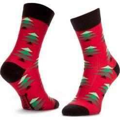 Skarpety Wysokie Męskie FREAK FEET - LCHK-RGR Czerwony. Czerwone skarpetki męskie marki Happy Socks, z bawełny. Za 19,99 zł.