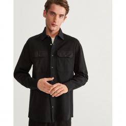 Koszula z zatrzaskami COMFORT FIT - Czarny. Czarne koszule męskie Reserved, l. Za 139,99 zł.