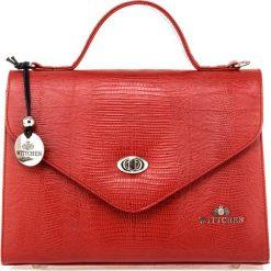 Torebka damska 15-4-063-3J. Czerwone torebki klasyczne damskie marki Wittchen, w paski, z tłoczeniem. Za 699,00 zł.
