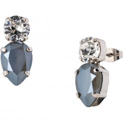 Kolczyki-wkrętki z kryształkami Swarovski. Szare kolczyki damskie Destellos, z kryształem, metalowe. W wyprzedaży za 77,95 zł.