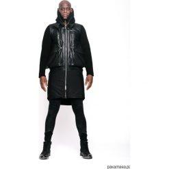 Płaszcze damskie pastelowe: Płaszcz zimowy czarny unisex