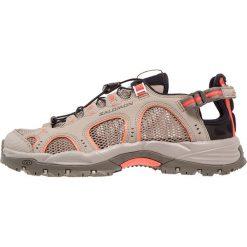 Salomon TECHAMPHIBIAN 3 Obuwie do sportów wodnych vintage kaki/bungee cord/living coral. Brązowe buty sportowe damskie Salomon, z gumy, outdoorowe. W wyprzedaży za 351,20 zł.
