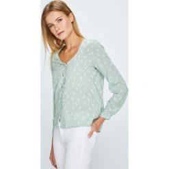 Answear - Bluzka. Szare bluzki asymetryczne ANSWEAR, l, z tkaniny, casualowe. W wyprzedaży za 79,90 zł.