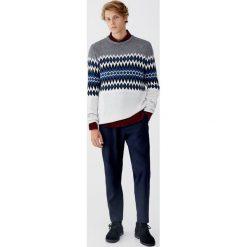 Żakardowy sweter z panelami. Czarne swetry klasyczne męskie marki Pull&Bear, m. Za 89,90 zł.