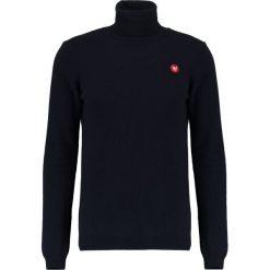 Wood Wood IRA TURTLENECK Sweter navy. Niebieskie swetry klasyczne męskie Wood Wood, m, z materiału. Za 589,00 zł.