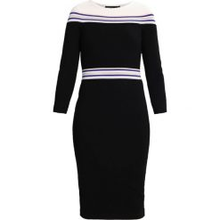 Sukienki hiszpanki: Karen Millen STRIPE DETAIL CUT OUT COLLECTION Sukienka etui black/multi