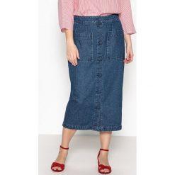 Długie spódnice: Długa dżinsowa rozszerzana spódnica