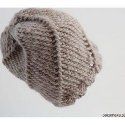 Czapka beżowa wełniana. Niebieskie czapki zimowe damskie marki WED'ZE, z materiału. Za 132,00 zł.