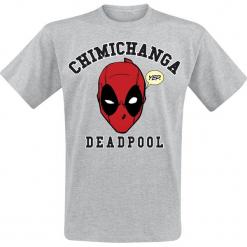 Deadpool Chimichanga T-Shirt szary. Szare t-shirty męskie z nadrukiem Deadpool, s, z okrągłym kołnierzem. Za 62,90 zł.
