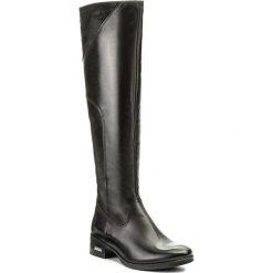 Kozaki SIMEN - 9617 Sandro 04/S04. Czarne buty zimowe damskie marki Simen, z nubiku, przed kolano, na wysokim obcasie, na obcasie. W wyprzedaży za 389,00 zł.