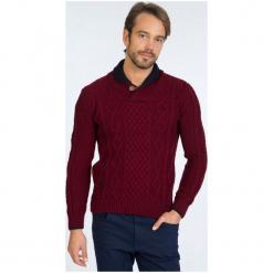 Sir Raymond Tailor Sweter Męski, L, Burgundowy. Czerwone swetry klasyczne męskie Sir Raymond Tailor, l, z wełny. Za 199,00 zł.