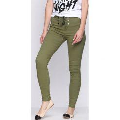 Spodnie damskie: Zielone Legginsy Maybe Tomorrow