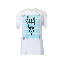 T-shirt Ave Sałata. Niebieskie t-shirty męskie z nadrukiem marki bonprix, m, z klasycznym kołnierzykiem, z długim rękawem. Za 49,00 zł.