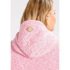 Bluzy rozpinane damskie: Ragwear Plus BEAT Bluza z kapturem pink melange