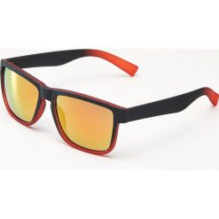 Okulary przeciwsłoneczne męskie aviatory: Okulary przeciwsłoneczne - Czerwony