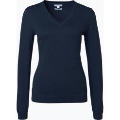 Brookshire - Sweter damski, niebieski. Czarne swetry klasyczne damskie marki brookshire, m, w paski, z dżerseju. Za 129,95 zł.