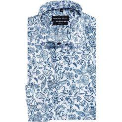 Koszula SIMONE KDWS000392. Szare koszule męskie na spinki marki S.Oliver, l, z bawełny, z włoskim kołnierzykiem, z długim rękawem. Za 199,00 zł.