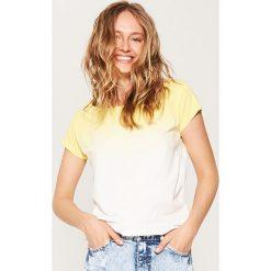 Bluzki, topy, tuniki: T-shirt ombre – Żółty