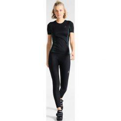 ODLO CREW NECK PERFORMANCE WINDSHIELD Koszulka sportowa black/blue radiance. Czarne t-shirty damskie Odlo, l, z elastanu. Za 259,00 zł.