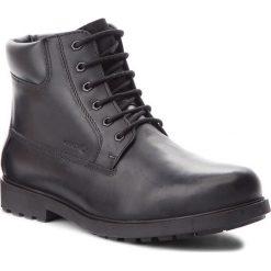 Kozaki GEOX - U Rhadalf F U845HF 00045 C9999 Black. Czarne buty zimowe męskie marki Geox, z materiału. W wyprzedaży za 299,00 zł.