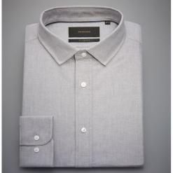 Bawełniana koszula slim fit - Jasny szar. Szare koszule męskie slim marki Reserved, l, z bawełny. Za 119,99 zł.