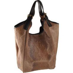 """Skórzana torebka """"Kansas"""" w kolorze jasnobrązowym - 45 x 37 x 10 cm. Brązowe shopper bag damskie ORE10, z materiału. W wyprzedaży za 326,95 zł."""