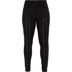 Topshop JAMIE Jeans Skinny Fit black. Czarne jeansy damskie marki Topshop. W wyprzedaży za 223,30 zł.