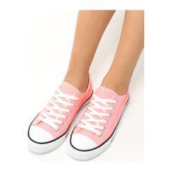 Różowe Neonowe Trampki Tyren. Czerwone trampki i tenisówki damskie marki Born2be, z materiału. Za 49,99 zł.