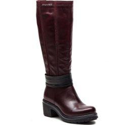 Kozaki EVA MINGE - Orihuela 4Y 18SM1372505EF 164. Czerwone buty zimowe damskie Eva Minge, ze skóry, na obcasie. Za 629,00 zł.