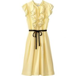 Sukienki hiszpanki: Sukienka rozkloszowana, falbany z przodu