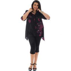 Bluzki asymetryczne: Bluzka w kolorze czarno-różowym