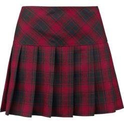 Spódniczki: Gothicana by EMP Plaid Pleated Skirt Spódnica czarny/czerwony