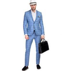 Garnitur LEONARDO GXNS900086. Niebieskie garnitury marki Bertoni, z elastanu. Za 999,00 zł.
