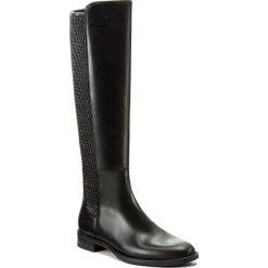 Oficerki GINO ROSSI - Nevia DKH170-G12-E1SS-9999-0 99/99. Czarne buty zimowe damskie marki Gino Rossi, z materiału, na obcasie. W wyprzedaży za 449,00 zł.