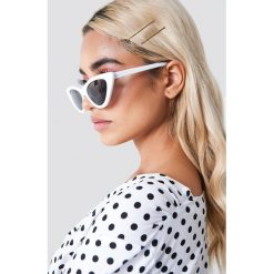 NA-KD Accessories Okulary przeciwsłoneczne Pointy Cat Eye - White. Szare okulary przeciwsłoneczne damskie lenonki marki ORAO. Za 60,95 zł.