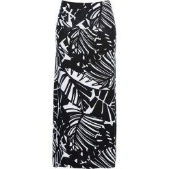 Spódnica z dżerseju 3 w 1 bonprix czarno-biały. Czarne długie spódnice bonprix, z dżerseju, dopasowane. Za 59,99 zł.