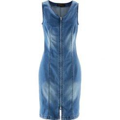 """Sukienki: Sukienka dżinsowa z zamkiem bonprix niebieski """"stone"""""""