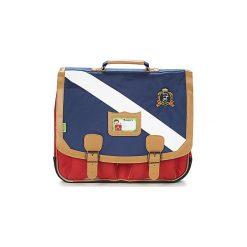 Teczki Tann's  LES BONS ENFANTS POLO CARTABLE 41CM. Niebieskie torebki klasyczne damskie Tann's. Za 295,20 zł.