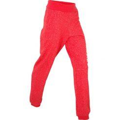 Spodnie sportowe damskie: Spodnie sportowe z wywijanym paskiem, długie bonprix truskawkowy
