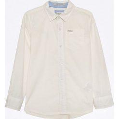 Pepe Jeans - Koszula dziecięca 122-176 cm. Szare koszule chłopięce z długim rękawem marki Pepe Jeans, z bawełny, z klasycznym kołnierzykiem. W wyprzedaży za 149,90 zł.