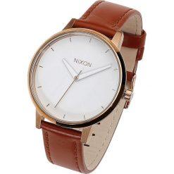 Nixon Kensington Leather - Rose Gold / White Zegarek na rękę jasnobrązowy. Brązowe zegarki damskie Nixon. Za 527,90 zł.
