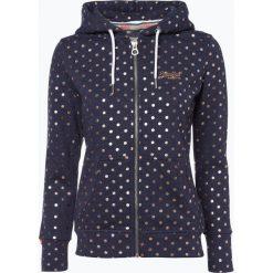 Superdry - Damska bluza rozpinana, niebieski. Szare bluzy rozpinane damskie marki Superdry, l, z nadrukiem, z bawełny, z okrągłym kołnierzem. Za 379,95 zł.