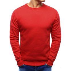 Bluzy męskie: Bluza męska gładka czerwona (bx3397)