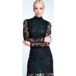 Sukienki hiszpanki: Sukienka sylwestrowa koronkowa zielono-czarna 6558